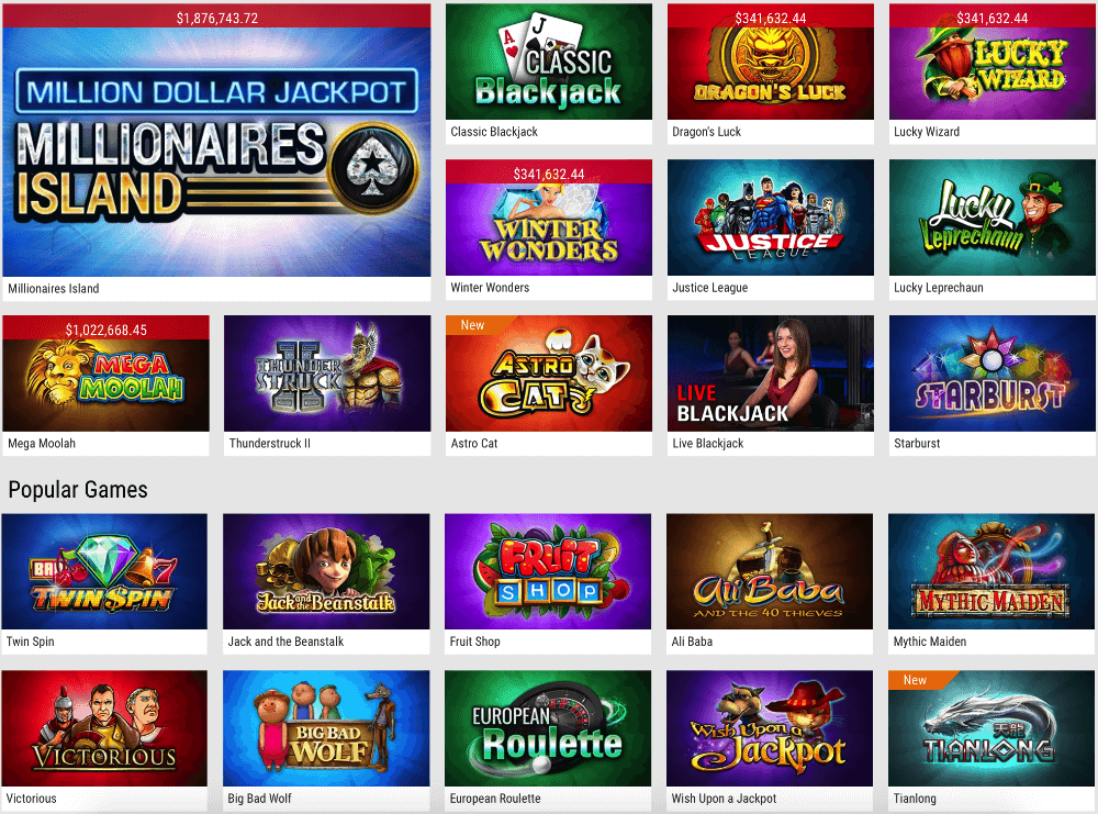 PokerStars Casino slots and games