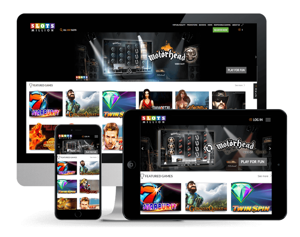 SlotsMillion Home Page And App