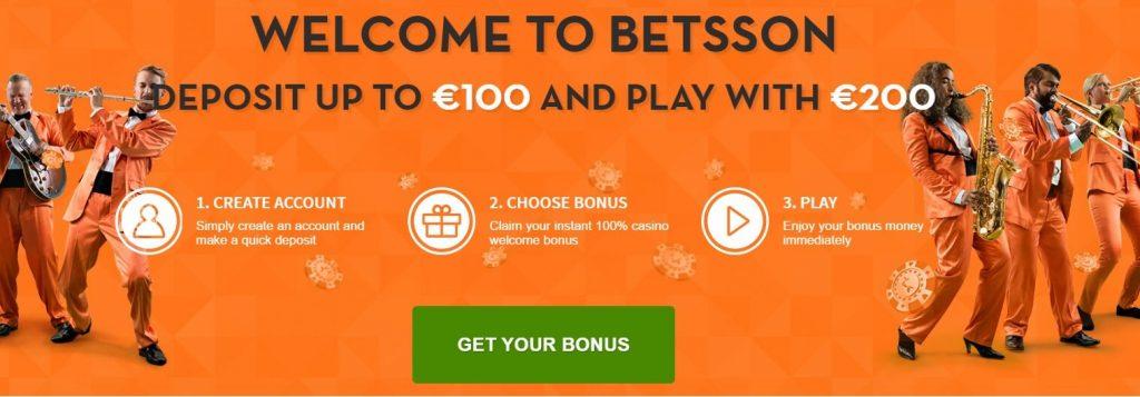 betsson welcome bonus