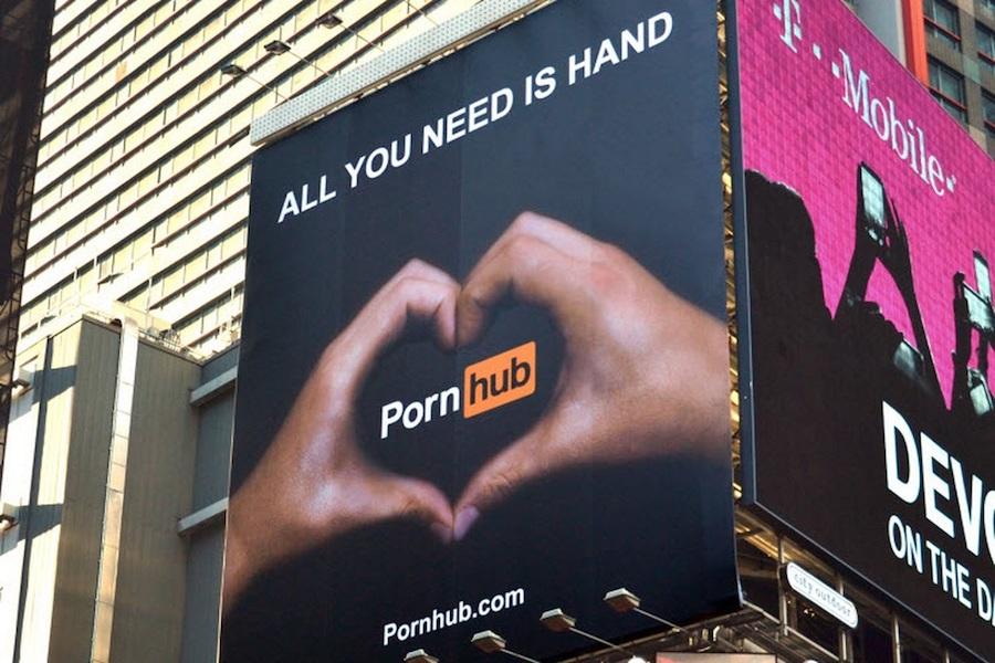pornhub billboard ad