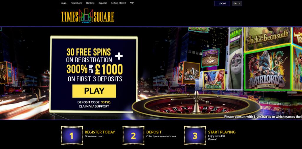 times square casino bonus code