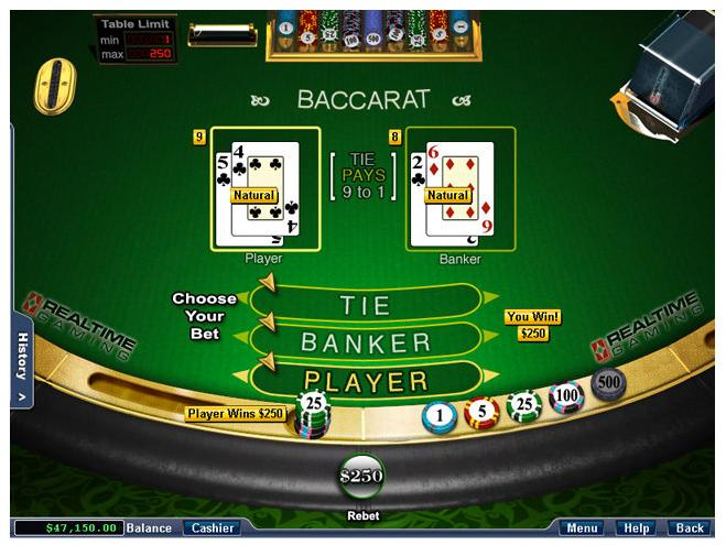 Free casino game baccarat felix gambling hawaii