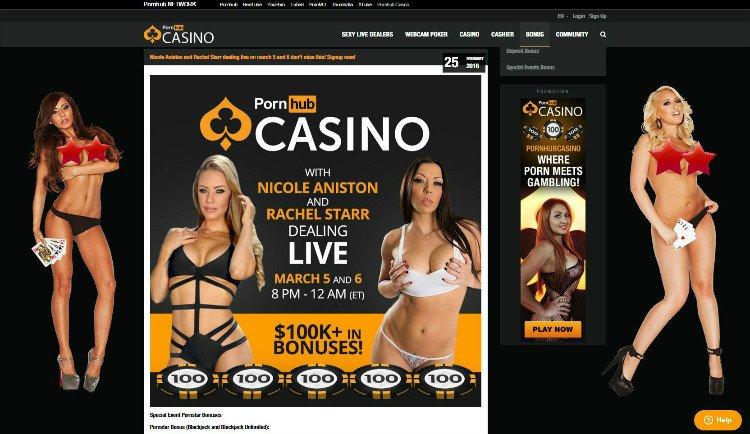 Pornhub Casino promotions