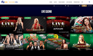 foxy casino Live Dealer Options