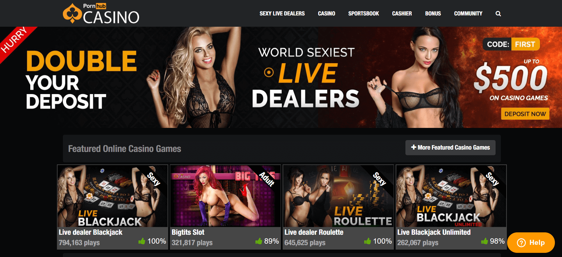 pornhub live dealer
